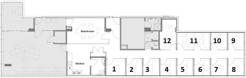 furnished office floor plan